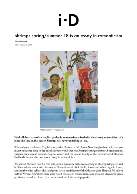 press  cob gallery shrimps springsummer  is an essay in romanticism