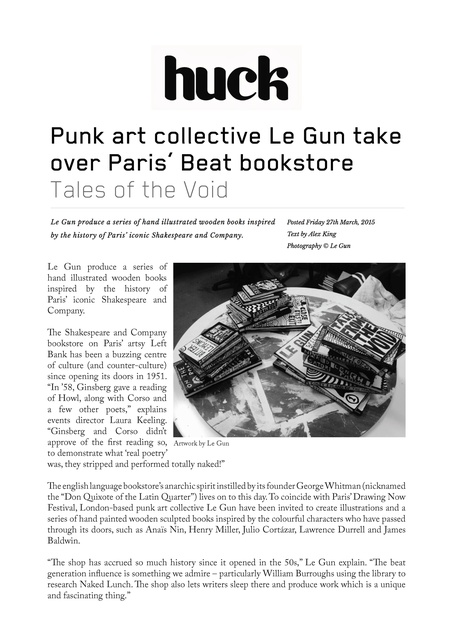 Punk art collective Le Gun take over Paris' Beat bookstore